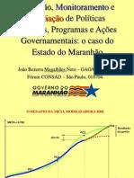 AVALIAÇAO DE POLÍTICAS PÚBLICAS NO MARANHÃO- para adequações