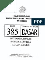dasar 385 snmptn 2009