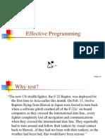 34 Effective Programming