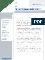 Percepción de la crisis financiera mundial en el Perú