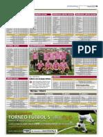 Clasificación Ligas Futbolcity en Superdeporte. 30 de Noviembre