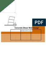 Concrete Shear Wall Design- Wira