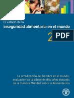 Estado de La Inseguridad Aliment Aria en El Mundo 2006