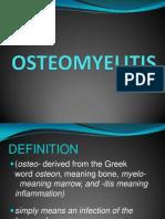 Osteomyelitis Presentation (1)