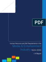 Media-Entertainment - Human Resource Skill Gaps - India 2012
