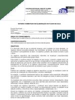 ROTEIRO COMENTADO DE ELABORAÇÃO DO PLANO DE AULA