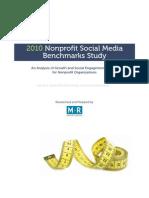 Nonprofit Social Media Benchmarks Study 2010