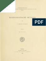 Kleinasiatische Münzen. Bd. I / von F. Imhoof-Blumer