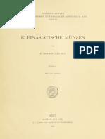 Kleinasiatische Münzen. Bd. II / von F. Imhoof-Blumer