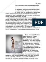 A Comparative Analysis of the Construction of Gender and Sexuality in Advertising