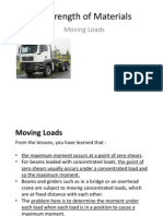 Strength of Materials-Moving Loads