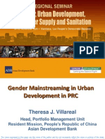Gender Mainstreaming in Urban Development in PRC