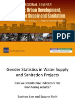 Gender Statistics in Water Supply and Sanitation Projects
