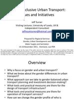Gender-inclusive Urban Transport