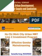 Ho Chi Minh City Urban MRT Line 2 Investment Program - Effective Gender Mainstreaming
