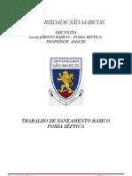 TRABALHO DE SENEAMENTO FOSSA SÉPTICA 2