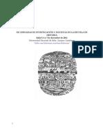 XII Jornadas de investigación y docencia de la EScuela de Historia-UNSa, 2011.-