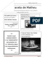 La Gaceta de Matheu Version Para Anibal