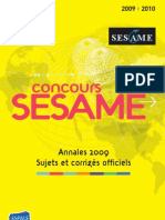 Sesame Annales 2009-2010