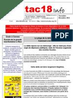Attac18 Info 2011. Nov-Dec