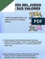 ELECCIÓN DEL JUEGO SEGÚN SUS VALORES