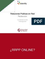 Relaciones Públicas en Red - redacción