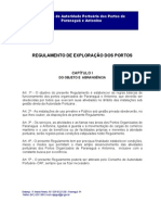 Regulamento de Exploracao Dos Portos