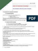 Chapitre I  Nature de l'activité économique et Objet de la science économique.