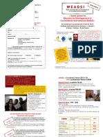 Bulletin d'Inscription WEADSI 2012