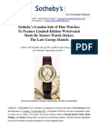 Sotheby's Sale of Fine Watches to Feature Limited-edition Watch by George Daniels
