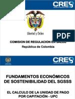 Fundamentos económicos de sostenibilidad del SGSSS