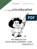 PROYECTO EDUCATIVO _CEIP TIERNO GALVÁN_oct 2011