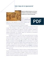 Respuesta de Alfredo Barahona a La Carta de Don Ricardo Ezzati