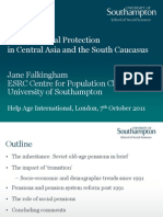 Old-Age Social Protection  in Central Asia and the South Caucasus