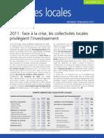 Note de conjoncture 2011Dexia Crédit Local sur la situation financière des collectivités locales
