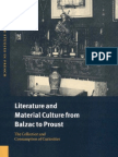 Literature and Material Culture From Balzac to Proust-0521661560