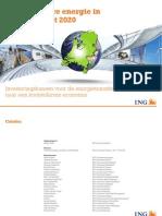 Hernieuwbare Energie in Nederland Tot 2020