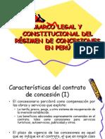 MARCO LEGAL Y CONSTITUCIONAL DEL RÉGIMEN DE CONCESIONES EN PERÚ