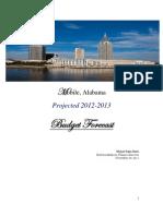 2012-13 Budget Forecast