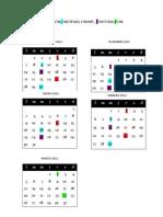 Calendario Escuela Tambor - Santo Sepulcro Alzira