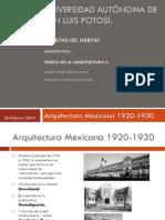 ARQUITECTURA MEXICANA 1920-1930