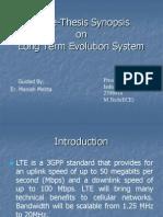 Lte Synopsis Presentation