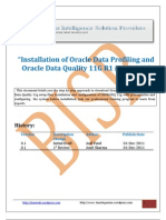 Oracle Data Profiling and Quality Installation and Configuration