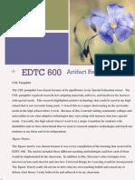 edtc 600 reflection
