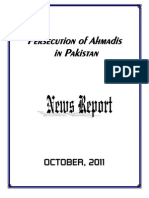 Monthly News Report - Ahmadiyya Persecution in Pakistan - October, 2011