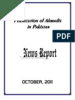 Monthly News Report - Ahmadiyya Persecution in Pakistan - October, 2011