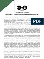Comunicato Giornata Del Caffè Sospeso - 10 dic, Lampedusa