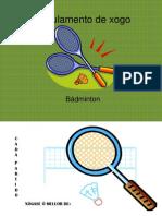 Regulamento de xogo Bádminton