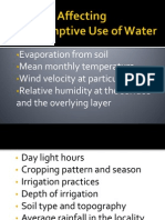 Factors Affecting Consumptive Use of Water