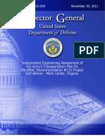 DoD Inspector General BRAC #133 Final Report
